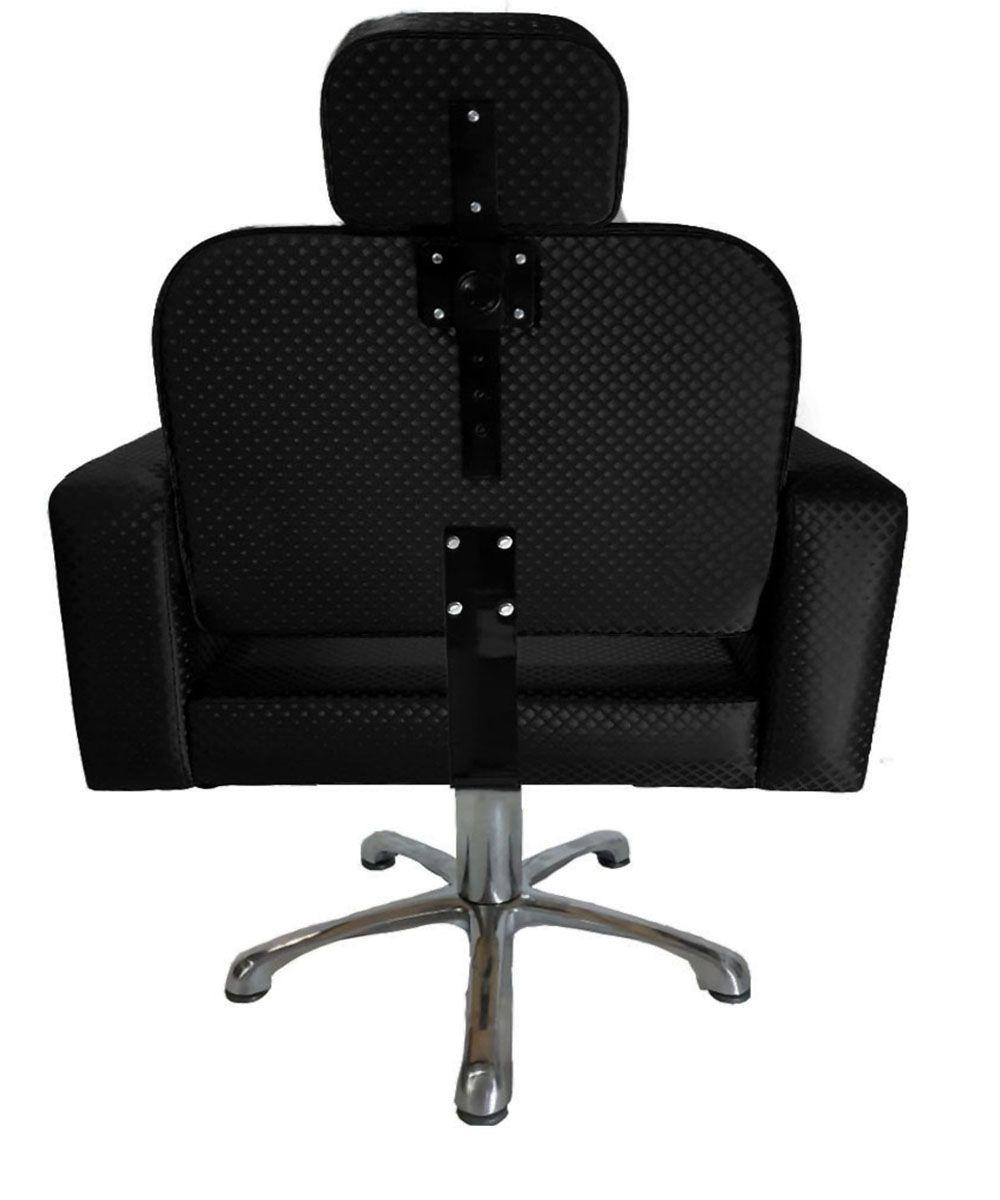 Poltrona Cadeira Hidráulica Elite Reclinável Para Salão Preto Blind