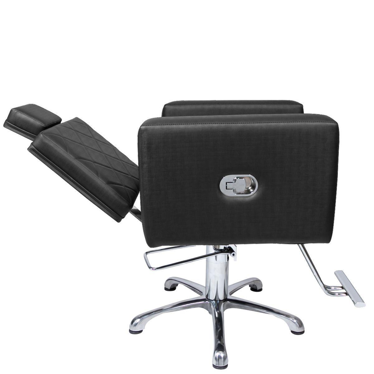 Poltrona Cadeira Hidráulica Evidence Reclinável Para Salão