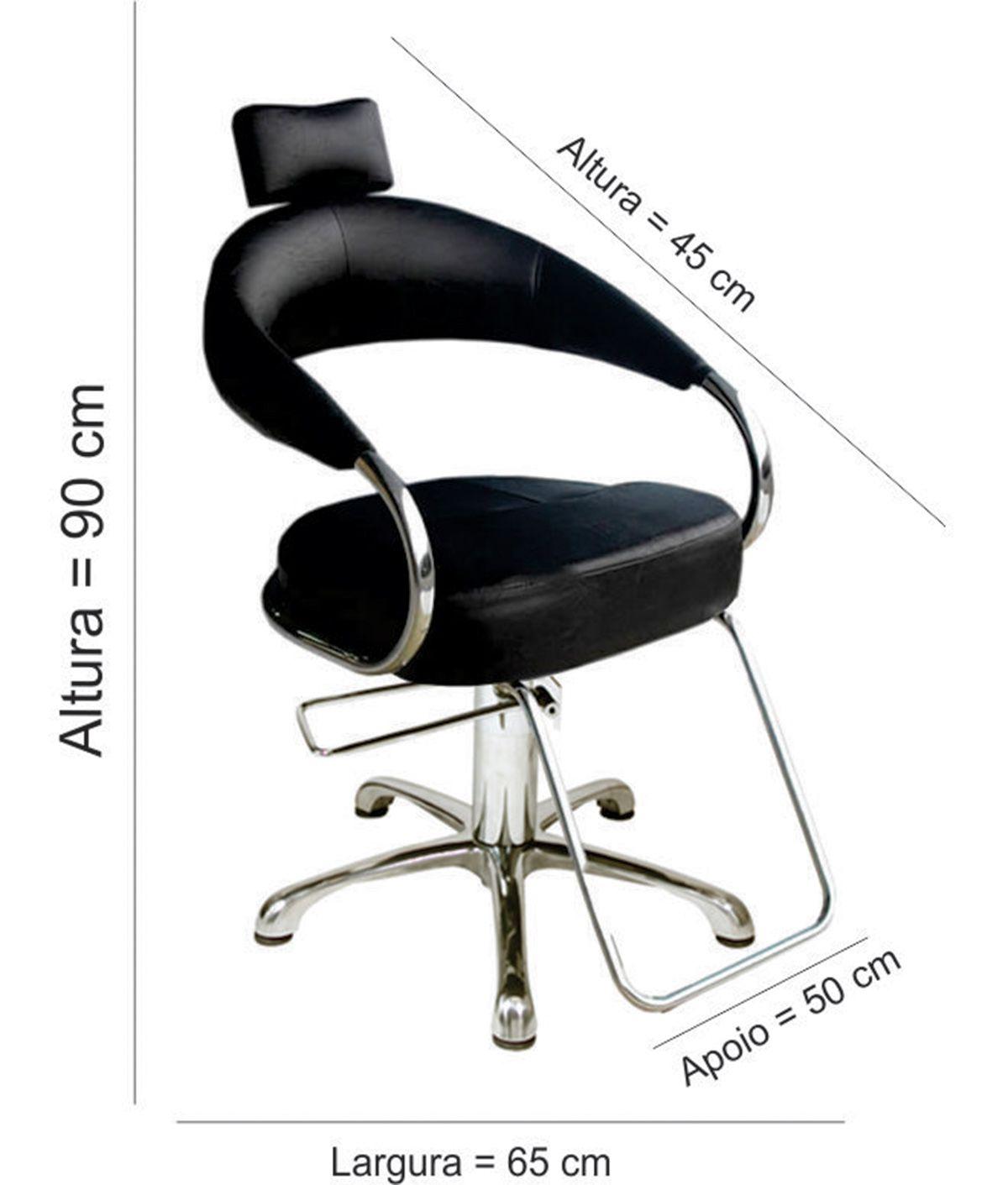 Poltrona Cadeira Hidráulica Futurama + Carrinho Auxiliar Santa Clara