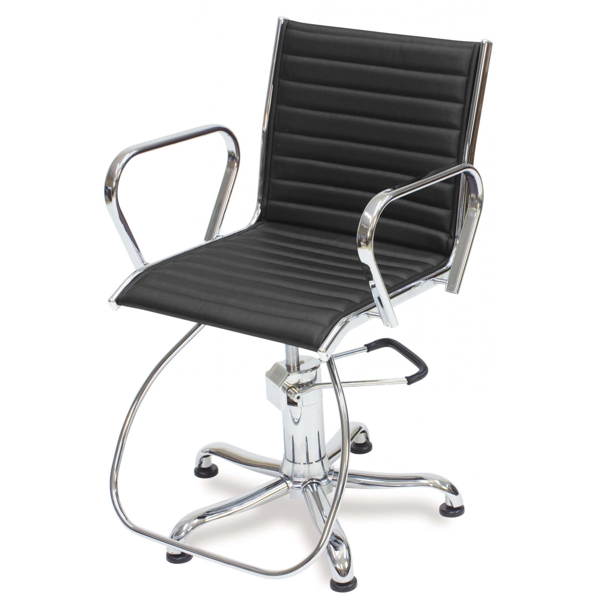 Poltrona Cadeira Kixiki Atenas Fixa Para Cabeleireiro