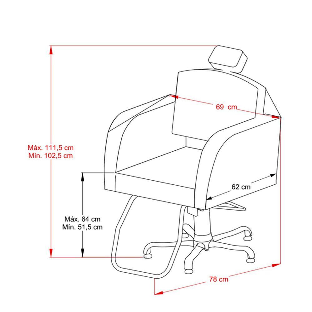 Poltrona Cadeira Kixiki Fixa - Capri Para Salão