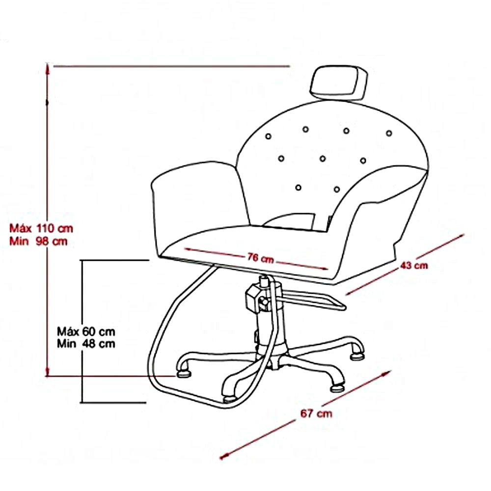 Poltrona Cadeira Kixiki Velvet - Fixa Para Salão