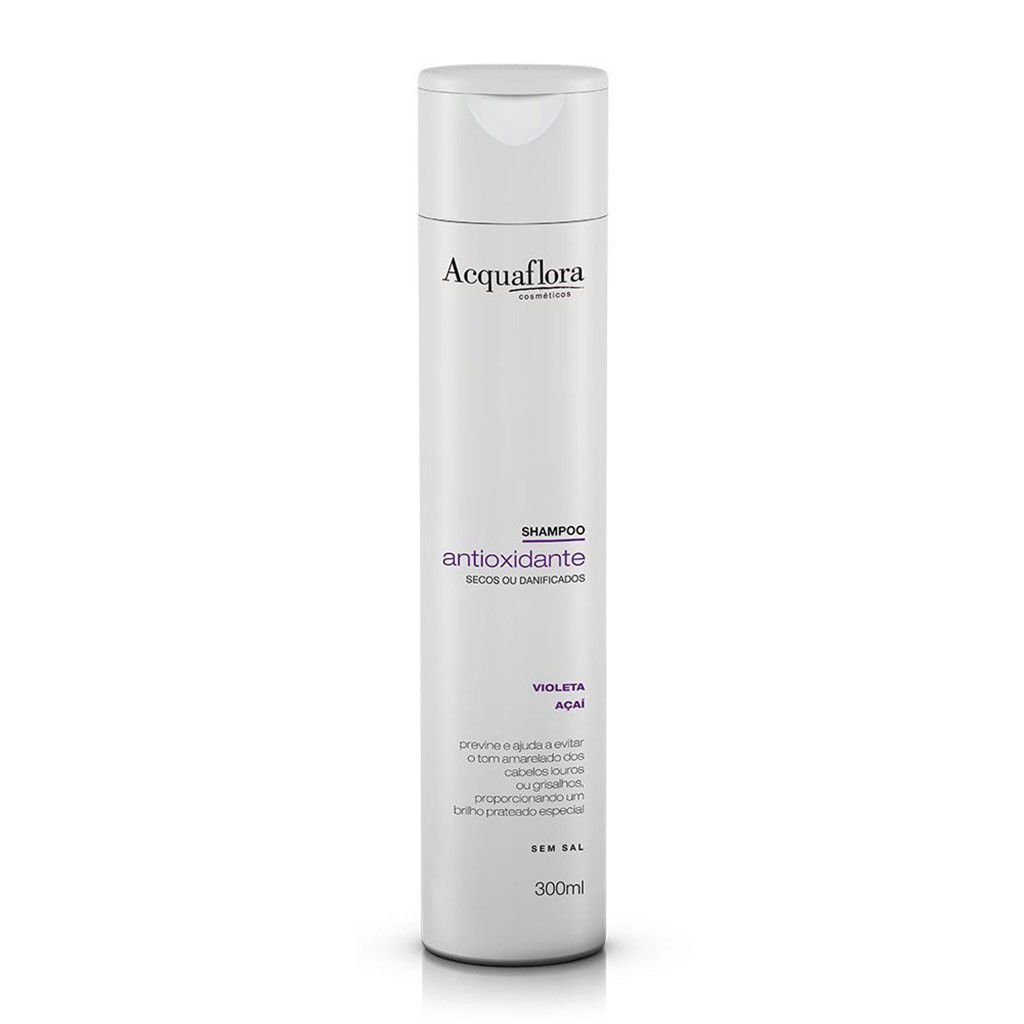 SHAMPOO ACQUAFLORA 300ML ANTIOX  SECOS OU DANIF
