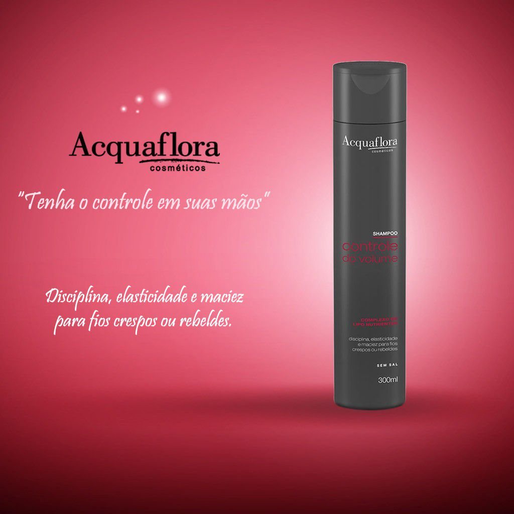 SHAMPOO ACQUAFLORA 300ML CONTR DO VOLUME