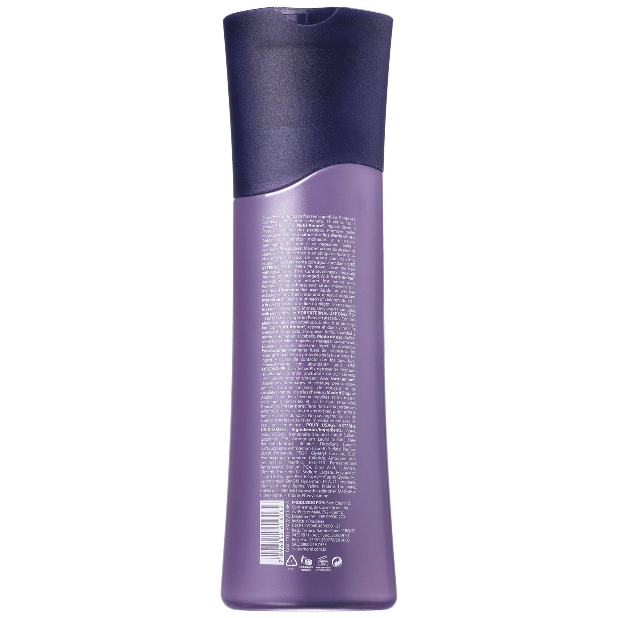 Shampoo Intensificador Pós Progressiva - 250ml Amend