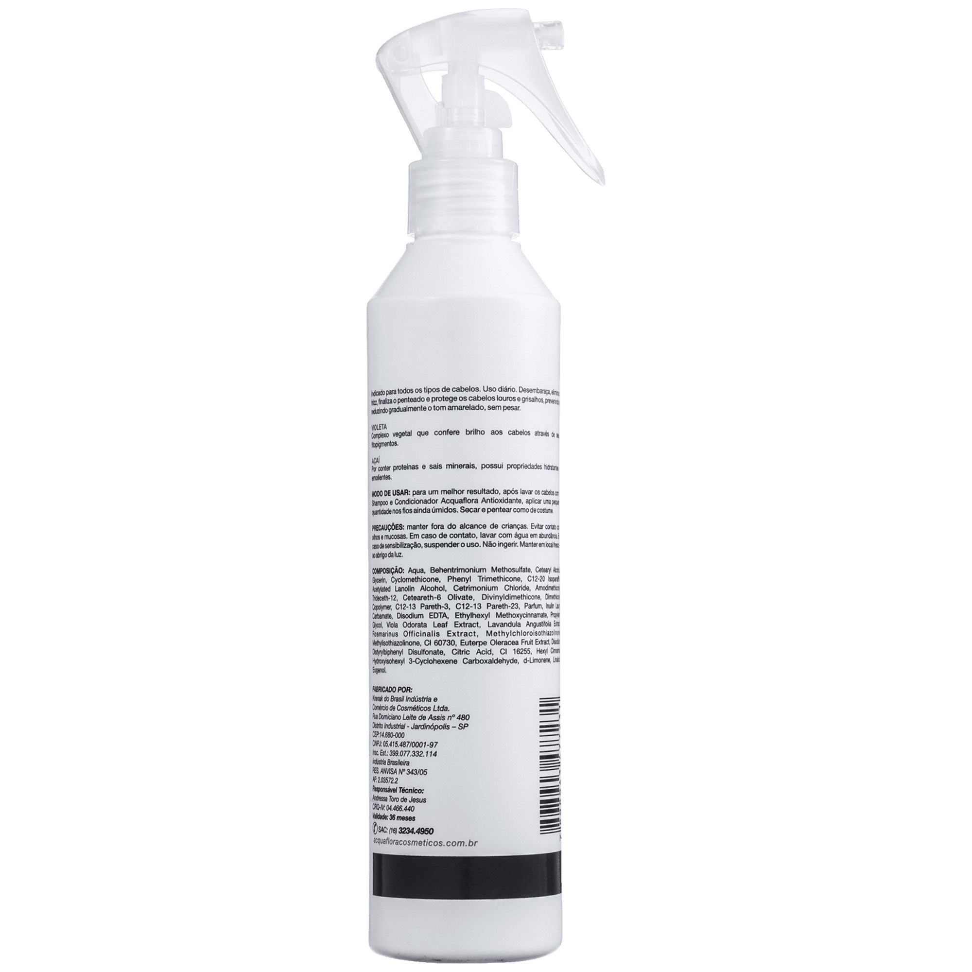 Spray Hidratante sem Enxágue Antioxidante - 240ml Acquaflora