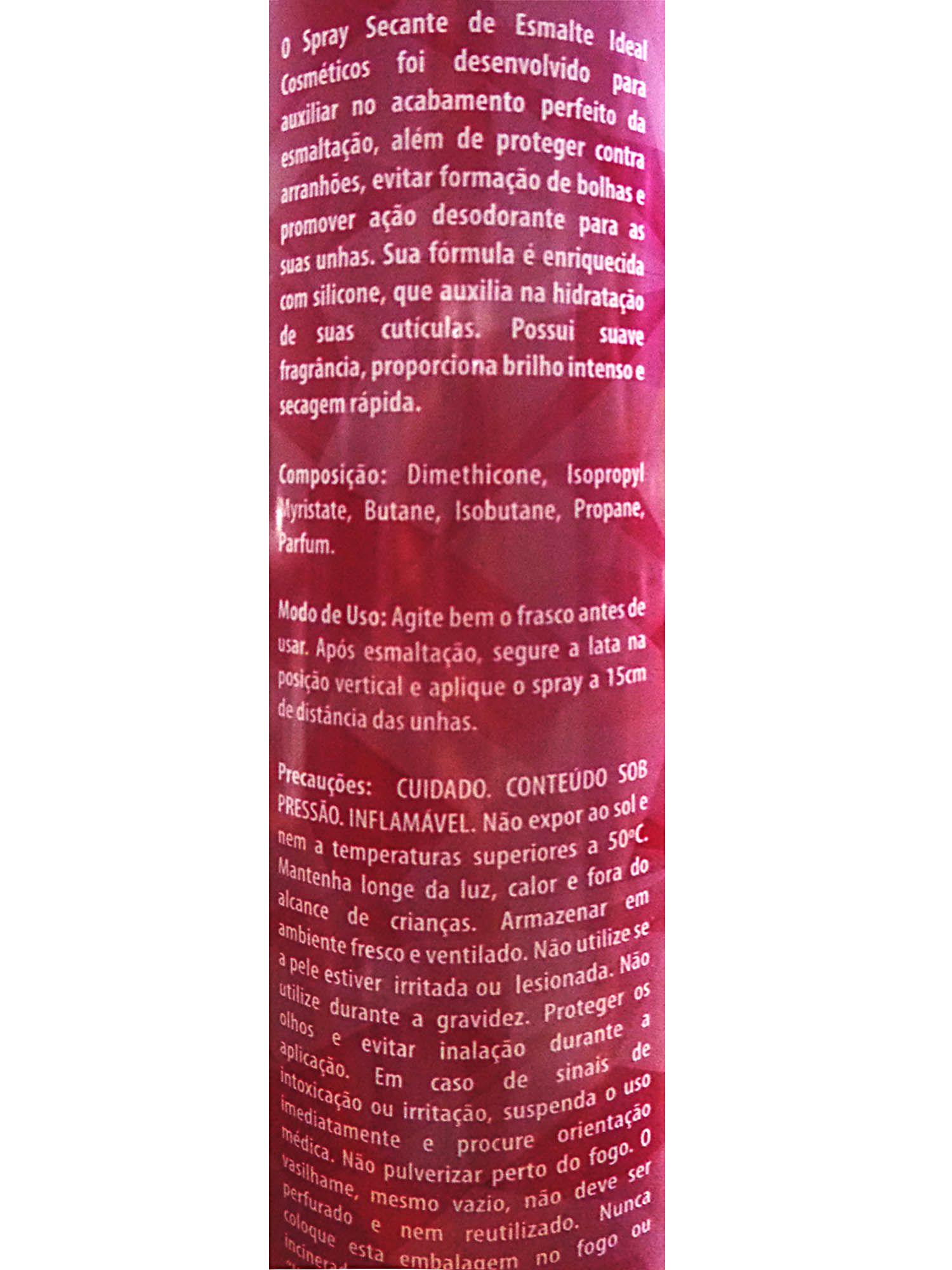 Spray Secante de Esmalte para Unhas 3 Unidades - Ideal