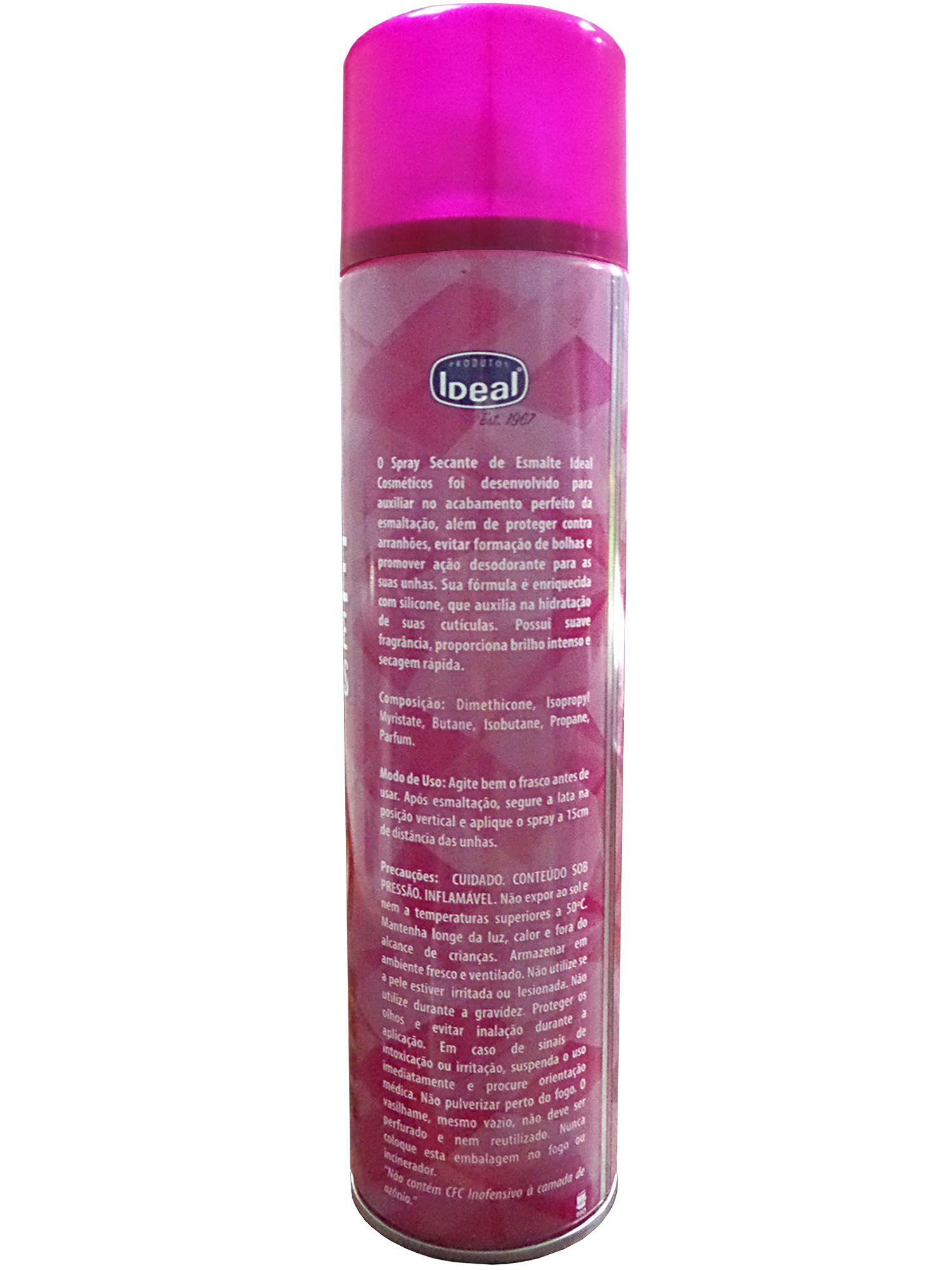 Spray Secante de Esmalte para Unhas - Ideal