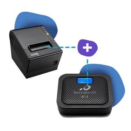 KIT SAT Bematech SATGO + Impressora Elgin I9 USB / GUILHOTINA  - Loja Ribeirão WCOM Soluções