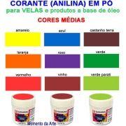 Corantes (anilina a óleo) para velas - pó   7g -  cores médias