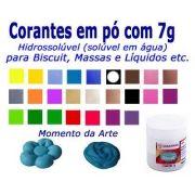 Corantes para biscuit pó 7g - cores básicas