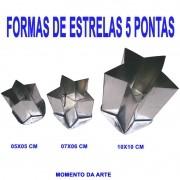 Formas de flandres ESTRELA 5 pontas