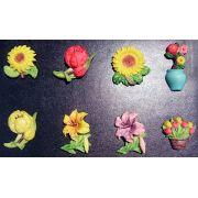 Imãs de Geladeira - Flores, Frutas e Legumes