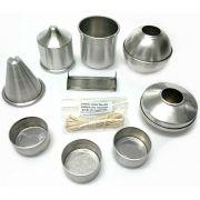 Kit com 8 Formas de alumínio para velas