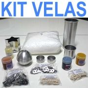 KIT VELAS ( parafina, corantes, formas de metal e alumínio, essência, ilhós, pavios duro e com núcleo)