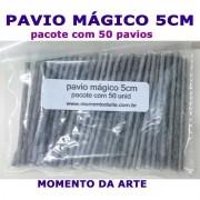 Pavio Mágico - pacotes c/ 50 e 500 unid.