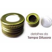 Tampa Difusora Metalica cor OURO