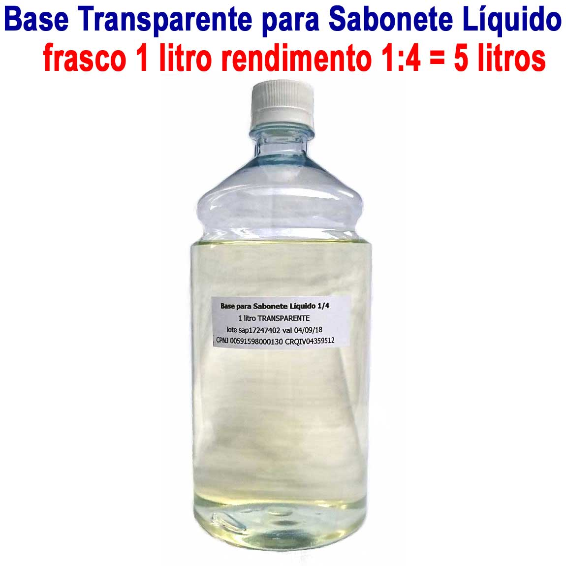 Base para Sabonete Líquido 1:4 SUPER CONCENTRADO (500ml e 1 litro)  - Momento da Arte