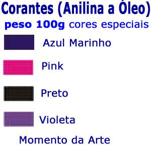 Corantes (anilina a óleo) para velas - pó 100g - cores básicas  - Momento da Arte