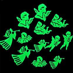 Anjos Fosforescentes (Brilha no Escuro) - 12 peças variadas  - Momento da Arte