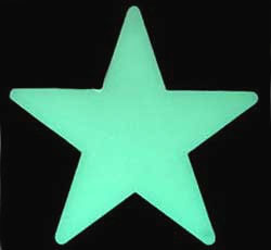 Estrelas 3 cm Fosforescentes (Brilha no Escuro) 100 estrelas + 100 adesivos  - Momento da Arte