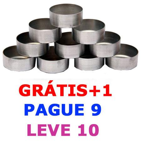 Formas de alumínio CILÍNDRICA 3,5x02 (pcte c/10 unidades)  - Momento da Arte