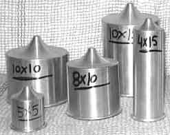Formas de alumínio CILÍNDRICA com bico  - Momento da Arte