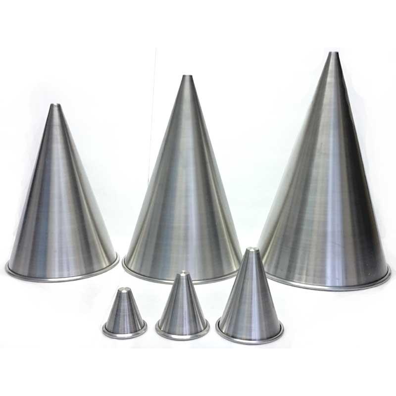 Formas de alumínio CONE pontudo