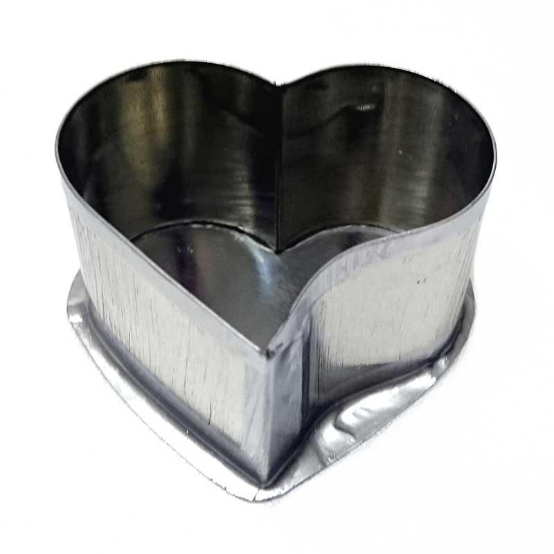 Formas de flandres Coração com curva 6,5x4cm