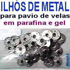 Ilhos de metal zincado - pacotes com 50 e 500 unid.  - Momento da Arte
