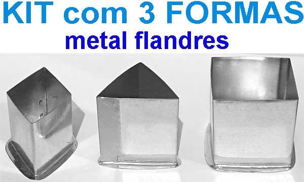 Kit formas para velas 1 (losangulo, quadrada, triangular)