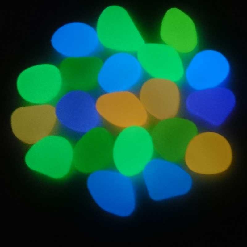 Pedra de resina fosforescente (brilha no escuro)