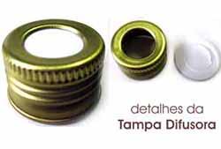 Tampa Difusora Metalica cor OURO  - Momento da Arte