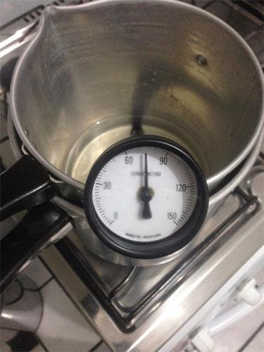 Termometro de cobre c/ suporte