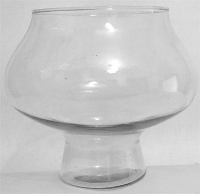 vidro donzela com pé