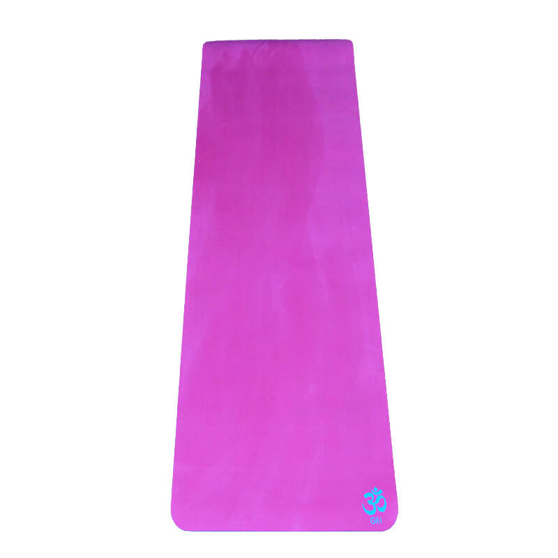 Tapete Yoga Aveludado Liso Pink Om