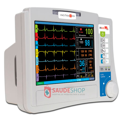 Monitor Multiparâmetro Inmax 10 ECG + RESP + SpO2 + PANI + TEMP - Instramed