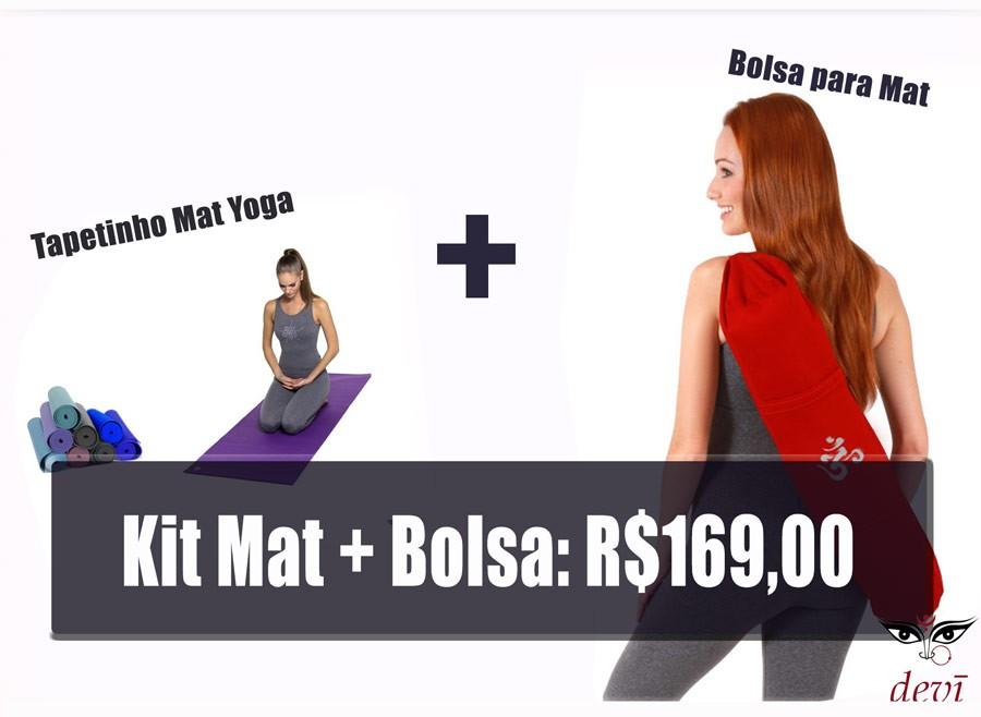 Kit Bolsa e Mat Yoga