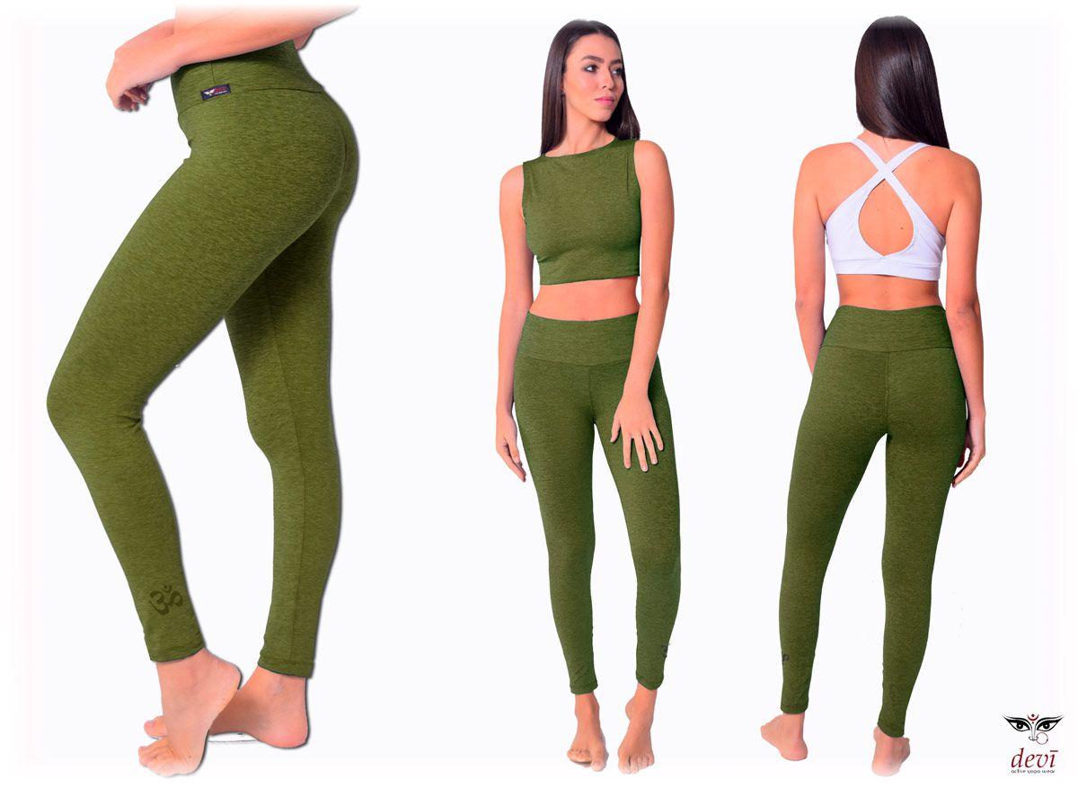 Legging Yoga Mescla Verde OM