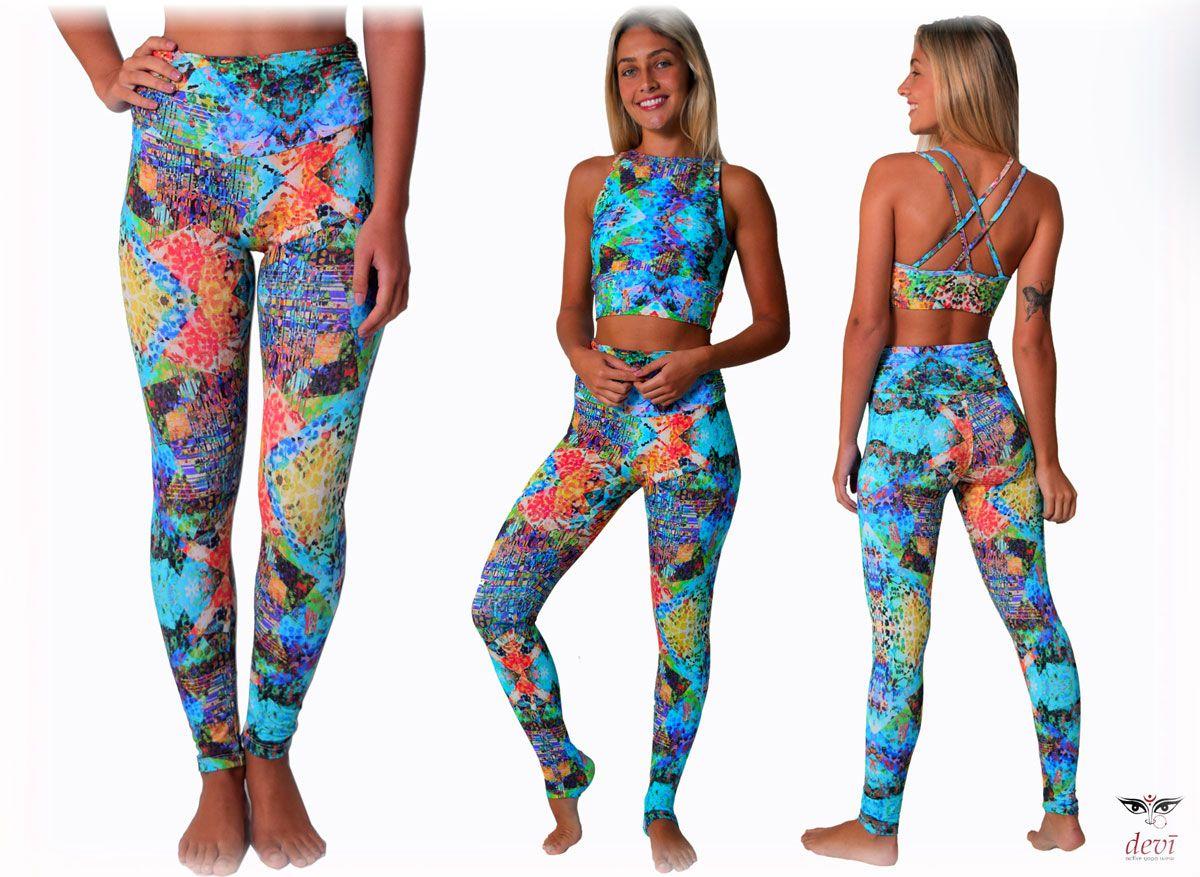 Legging Yoga Devi Aquamarine