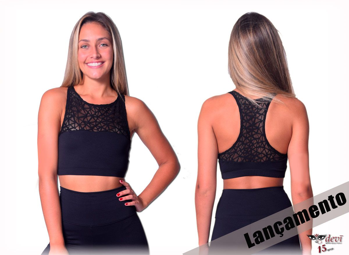 Top Crop com Renda