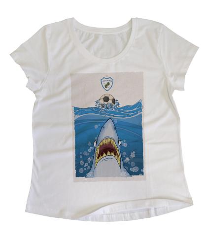 Camiseta Baby Look O Destemido Tubarão