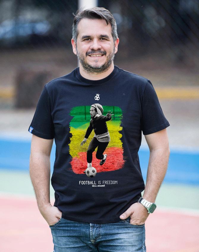 Camiseta Bob Marley Boleiro