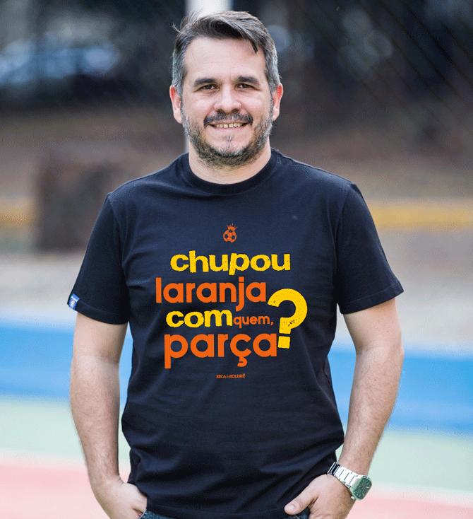 Camiseta Chupou Laranja com Quem? - masculina