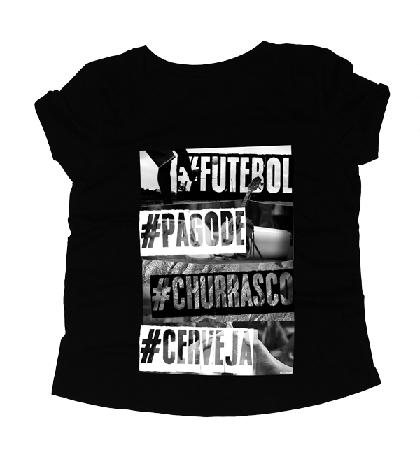 Camiseta feminina Futebol Combina com...