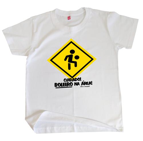 Camiseta Infantil Boleirinho na Área