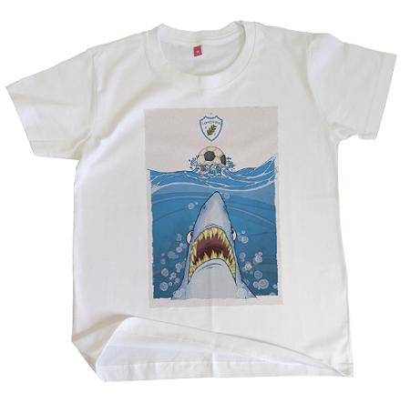 Camiseta infantil Destemido Tubarão