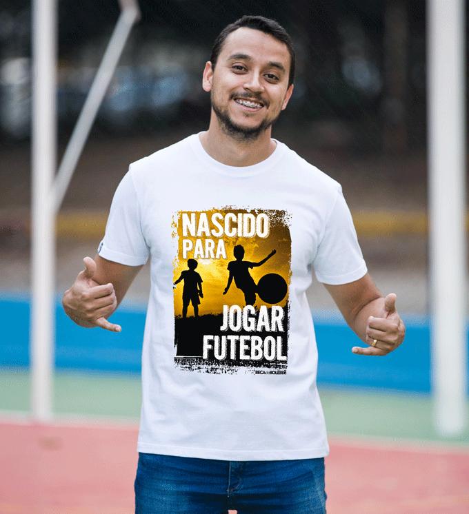 Camiseta Nascido para jogar futebol