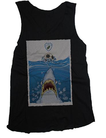 Camiseta Regata Feminina O Destemido Tubarão