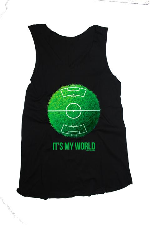 Camiseta Regata Feminina Planeta Futebol